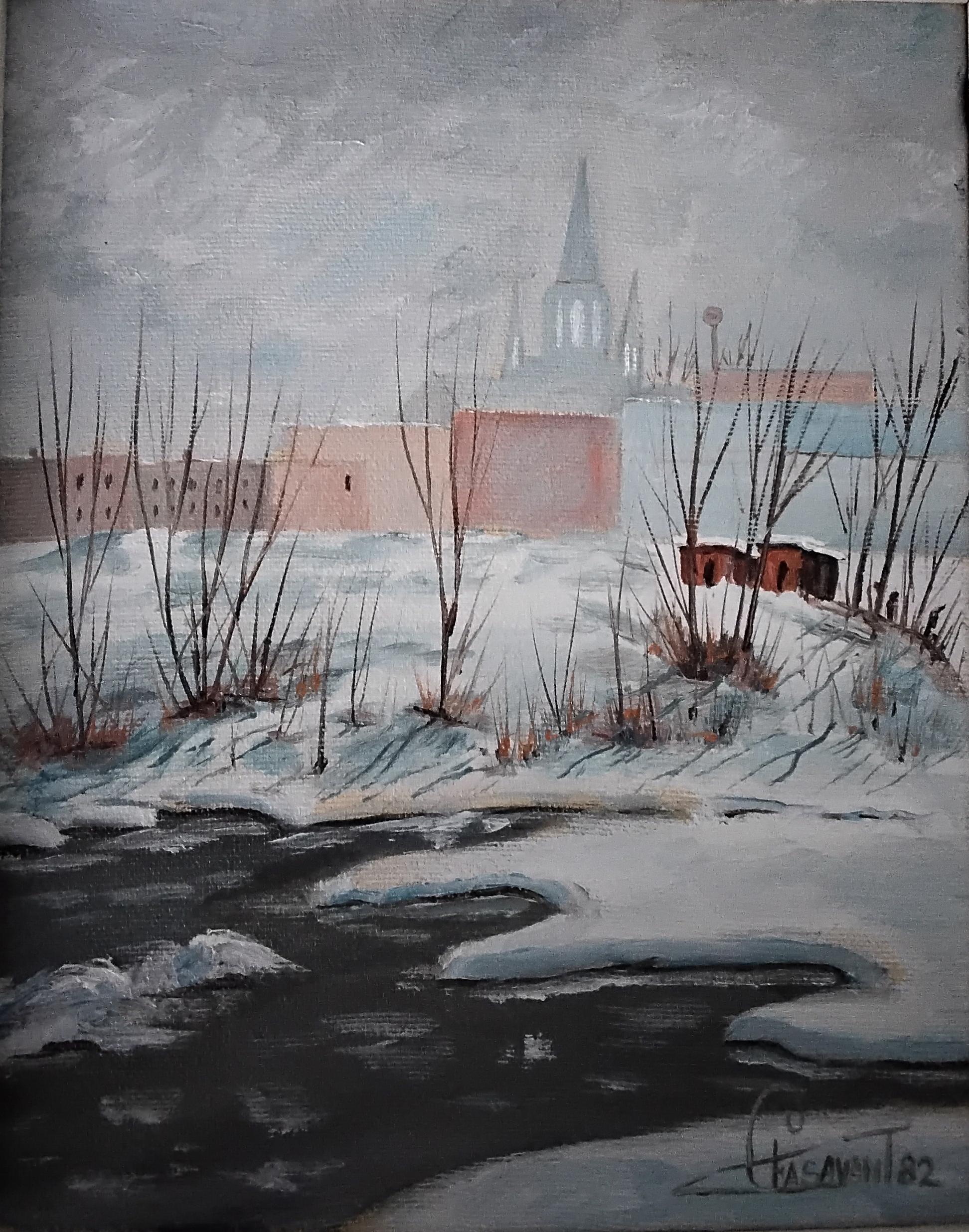 Toile La rivière du nord, par Fernand Casavant.